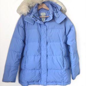 L.L. BEAN Ultra Warm Down Fur Hood Puffer Jacket